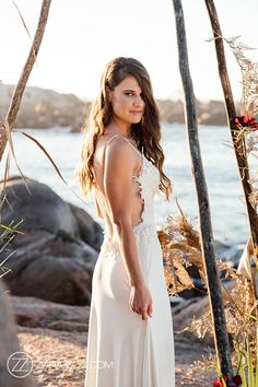 Beach Wedding Inspiration Boho Beach Wedding, Beach Wedding Inspiration, Wedding Ceremony, Wedding Venues, Reception, Boho Theme, Bride Portrait, Poses, Portraits