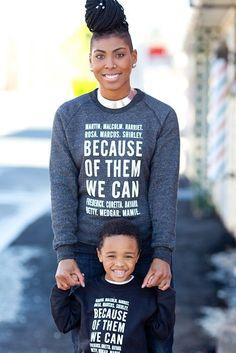 Because of Them, We Can Crewneck Adult Sweatshirt