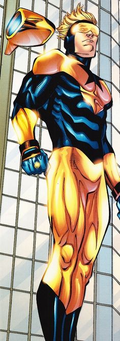 Booster Gold (Michael Jon Carter) is a fictional character, a superhero in the DC Comics universe. Created by Dan Jurgens, he first appeared in Booster Gold #1 in 1986. Booster is a glory-seeking showboat from the 25th Century who uses knowledge of historical events and futuristic technology to stage high-publicity heroics alongside his robotic side-kick Skeets. Not taken very seriously by his peers because of a careless and somewhat egotistical attitude, he is frequently under-estimated…