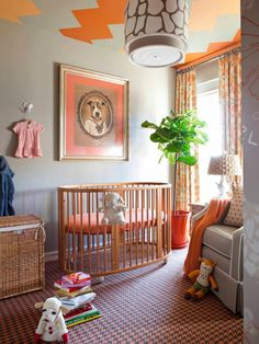 Beautiful baby nursery minus that weird dog painting