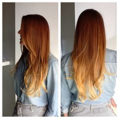Our hair stylist Amanda, in Redondo Beach, had a lot of fun with this natural red head beauty yesterday! Red to blonde ombré is such a unique look and Amanda mastered it perfectly, along with a clean haircut. Parlour Salon is notorious for enhancing natural beauty and healthy hair with perfect color. Check out our website! www.theparlourhairsalon.com