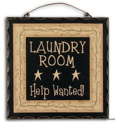 """NEW Primitive Rustic LAUNDRY ROOM FUNNY 8"""" WOOD SIGN Antique Country Home Decor"""