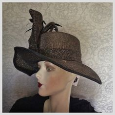4ac65dc324fd7c Outrageous Huge 1950s 1960s Church Lady by UnforgettableVintage Metallic  Gold, Amazing Women, Hats For