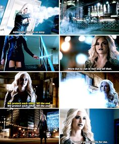 "#TheFlash 3x20 ""I Know Who You Are"" - ""Admission here is so easy. More fun in hell and all that. We protect each other 'till the end. No More pencil skirts for me"" - #CaitlinSnow #KillerFrost"