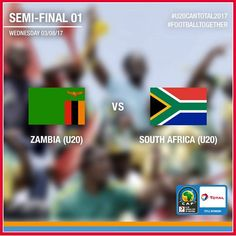 """Hello the team ❤️,  Today is a BIG football day ⚽️,  Besides a UEFA Champions League Round of 16, """"Barcelona 💙❤️ - Paris Saint-Germain ❤️💙"""", this afternoon will be played the 1st #U20CANTotal2017 semi-final between Zambia 🇿🇲 host country and South Africa 🇿🇦!  Who's gonna reach the final between Chipolopolo 🇿🇲 and Amajita 🇿🇦? Answer at GMT 4:00 pm   By the way, we've almost forgotten the most important, Total Football Together  wishes to all the women a Happy Women's Day 💞…"""