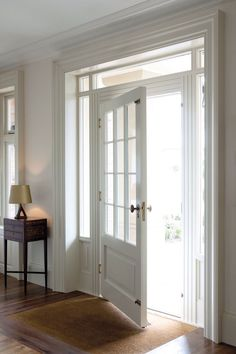 It would be cool to replace the front french doors with an oversized front door with the windows surrounding like this Interior Barn Doors, Interior Exterior, Exterior Doors, Interior Design, Luxury Interior, Door Design, House Design, Decoration Entree, Architecture Design
