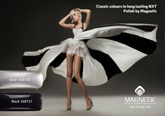 Black and Silver - classic colours that always look great, no matter the occasion or the season. Save on this timeless Silver and Black Collection   from Magnetics long lasting NXT Polishes. Was R297 now R268. Save 10%