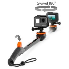 Spivo New 20 Inch Waterproof Swivel Selfie Stick for GoPro Cameras and Smartphones. The Only Rotating Pole to Capture Your Adventures From Every Angle (Waterproof, Generation, Black) Best Gopro Camera, Nikon Camera Lenses, Canon Cameras, Canon Lens, Camera Gear, Film Camera, Camera Straps, Leather Case