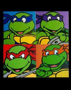Teenage Mutant Ninja Turtles hand painted acrylic on canvas