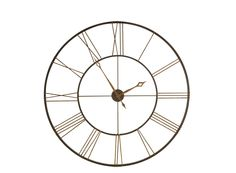 """If you're looking for an accent piece that'll really draw attention, you've found it with this 49"""" decorative large wall clock."""