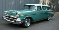 1957 Chevy. If I ever have kids...this is what I'm toting them around them. I will never own a mini van!