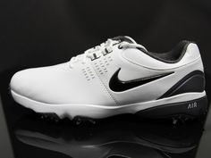 6a0cce5fced NIKE Golf Air Rival III Soft Spike Golf Shoes Size 9 (White Black)