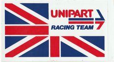 BRITISH LAYLAND UNIPART RACING TEAM F1 F3 F2 ORIGINAL STICKER ADESIVO AUFKLlEBER Racing Stickers, Racing Team, Chicago Cubs Logo, Formula 1, F1, Race Cars, Decals, British, The Originals