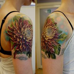 3D chrysanthemum tattoo - 40 Beautiful Chrysanthemum Tattoo Ideas <3 !