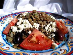 Turkish Lentil Salad - Adas Salatasi (dried haricot, fava or white beans can be substituted).