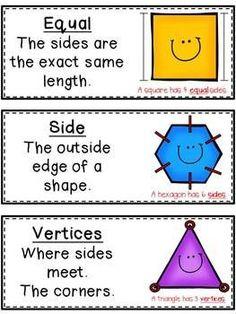 FREE - Geometry Vocabulary Cards.