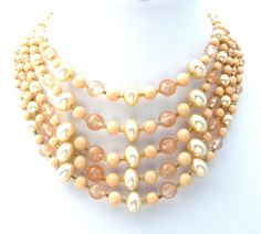 Multi Strand Beaded Vintage Necklace