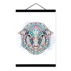 Modern-Ancient-African-National-Totem-Animals-font-b-Sheep-b-font-Head-A4-Scroll-Canvas-Painting.jpg (1000×1000)