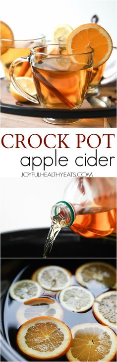 This Crock Pot Apple Cider is the perfect drink to have in your hand this holiday season. It's easy, delicious, comforting, and makes your house smell amazing! | joyfulhealthyeats.com: