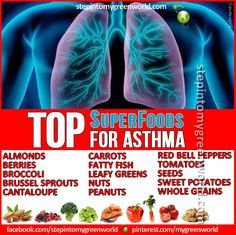 ☛ Do YOU suffer from Asthma?  Do you know which foods to eat to help reduce the symptoms?  FOR ALL YOU NEED TO KNOW:  http://www.stepintomygreenworld.com/greenliving/greenfoods/foods-that-fight-asthma/  ✒ Share | Like | Re-pin |
