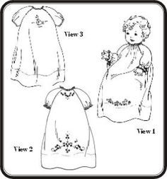 Old Fashioned Baby Embroidered Raglan Daygowns