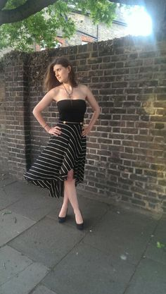 Megan Nielson cascade skirt pattern, as made up by Sleek Silhouette blog; LOVE THIS