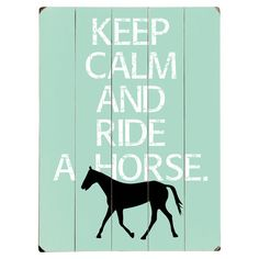 Showcasing a horse silhouette and a whimsical take on an iconic British slogan