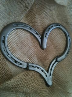 Horseshoe Heart by ClipClopCreations on Etsy, $20.00