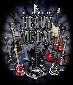 Metal music | Metal Guitars T-shirt, Drum Gifts, Drummer T shirts, Drums, Music ...