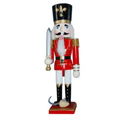N151-M: 15 inch Nutcracker with Red Jacket and Mouse