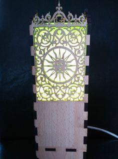 Laser Cut Light Box Sun design