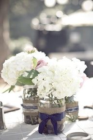 These look just like my centerpiece mason jars that we made!!