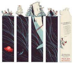 Criados pelo designer Pietari Posti, esses marcadores de livro ganharam até prêmio em um evento de artes graficas na Alemanha, o ADC Germany´s.E o melhor, são desses marcadores-brinde da livraria...