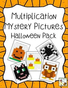 What a fun way to practice multiplication facts! Solve the problems, then use the key to color in the squares and reveal a mystery picture! $ #Halloween #pumpkin #multiplication #activity #fun
