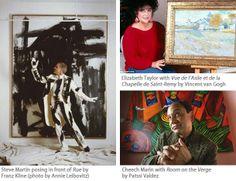Celeb art collectors Elizabeth Taylor, Steve Martin, Cheech Marin
