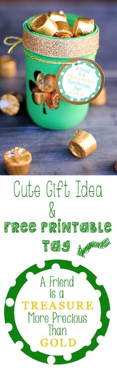 Frienship's a Treasure-Free Printable Tag {& Blog Hop} - Crazy Little Projects