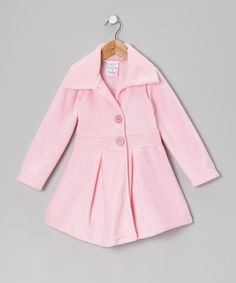 Take a look at this Light Pink Button Coat - Infant, Toddler & Girls by Kid Fashion on #zulily today!