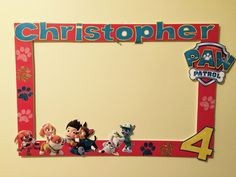 Paw Patrol photo booth frame
