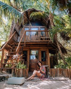 Hanging out on a Tulum girls trip. Click here to find the best girls trip destinations in the world. These locations are perfect for a girls weekend getaway and are the best places to go for a girls trip. #girlsgetaway #girlstrip #bachelorette | girls weekend getaway destinations | girls weekend getaway ideas | best places for girls trips | best places for a girls trip | best places to take a girls trip | best places to travel for girls trip | bachelorette party destinations