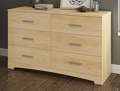 Thanks to its neutral finish and timeless look, this dresser features sleek lines and blends perfectly into today's trendiest decors. This collection was designed just for tighter spaces! the furniture lets you picture. Simple décor that's brought to life through the use of bright ... more details available at https://furniture.bestselleroutlets.com/bedroom-furniture/dressers/product-review-for-south-shore-gramercy-6-drawer-double-dresser-natural-maple/