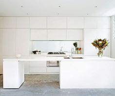 """We lost the two-pack cupboards in the kitchen, replacing them with Laminex laminates,"" says Kate. ""I love their matt finish and we saved a few thousand in the process.""   **Benchtop** in [Caesarstone](http://www.caesarstone.com.au/