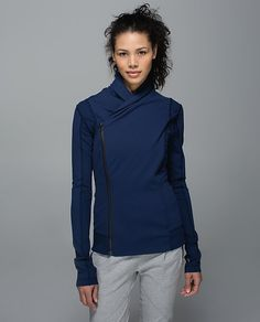 Lululemon Bhakti Yoga Jacket in navy (also available in black and heather gray) -- $118.00