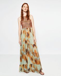 Zara Tie Dye Maxi Dress April 2017