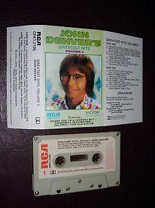 JOHN DENVER GREATEST HITS VOLUME 2 Cassette Tape RED#15