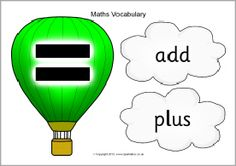 Balloons and clouds maths vocabulary display set - SparkleBox - We publish good gifts idea Sparkle Box, Spelling And Handwriting, Math Magic, Math Vocabulary, Best Gifts, Balloons, Clouds, Display, School