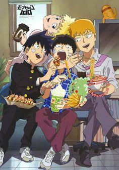 Ritsu, Teruki, Mob e Reigen