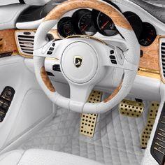 interior of a fancy car