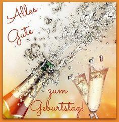 Bild von einer Flasche Sekt öffnen: Alles Gute Zum Geburtstag