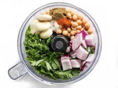 Falafel Ingredients Before