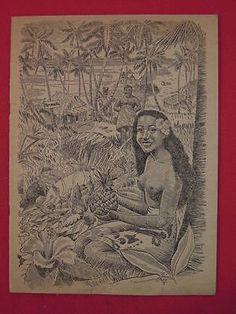 1940s RARE Trader Vic's Polynesian Tiki Restaurant Menu Oakland CA 1st Location